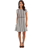 Calvin Klein - Short Sleeve Textured A-Line Ponte Dress CD4P3A13