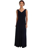 Calvin Klein - Portrait Neck Gown w/ Tucking