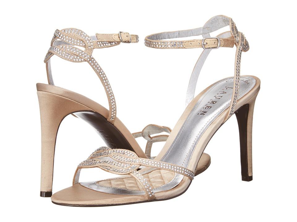 LAUREN by Ralph Lauren Stephanie (Champagne Satin/Stones) High Heels