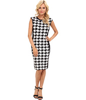 Calvin Klein - Rayon Knit Houndstooth Dress CD4W19T3