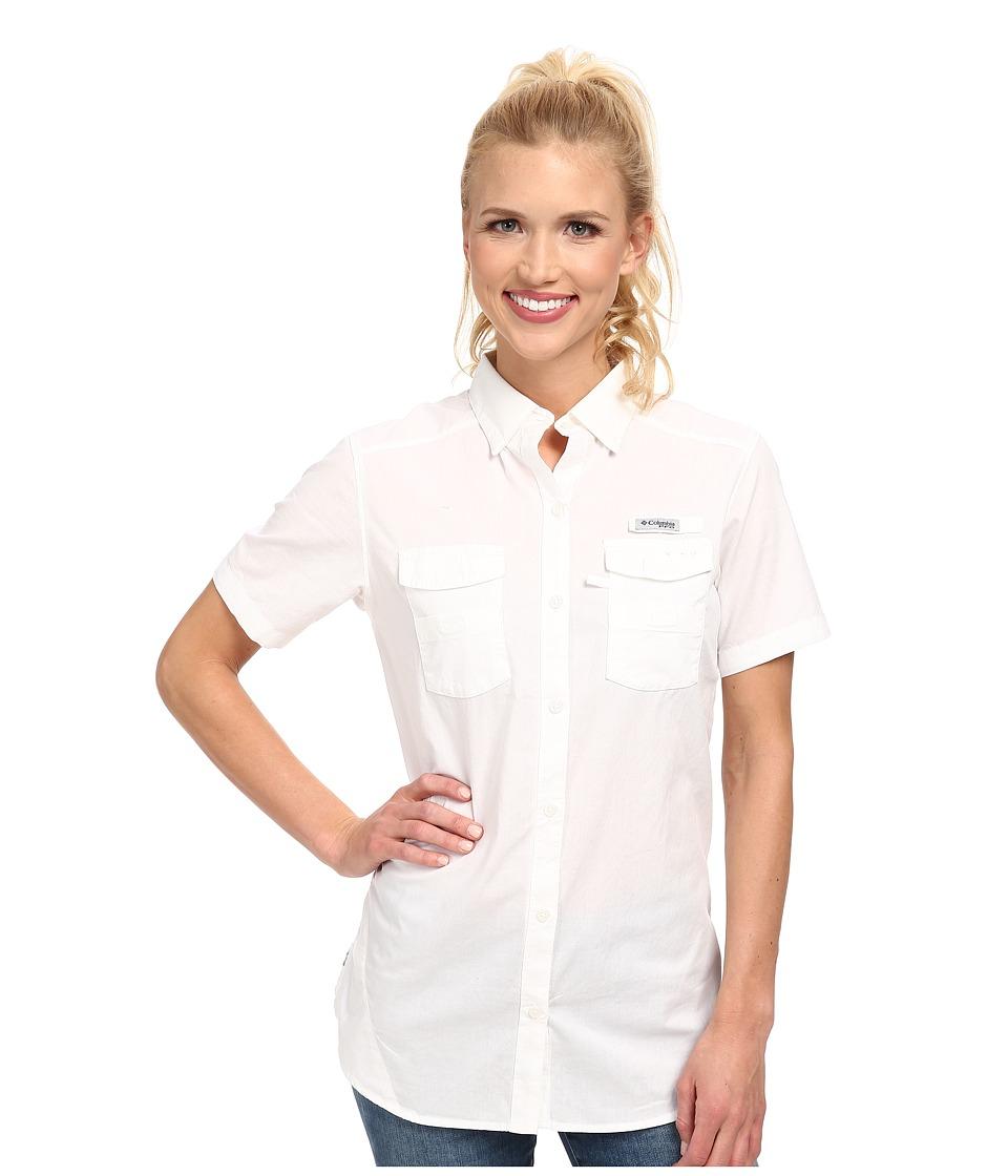 Columbia Boneheadtm II S/S Shirt (White) Women's Short Sl...