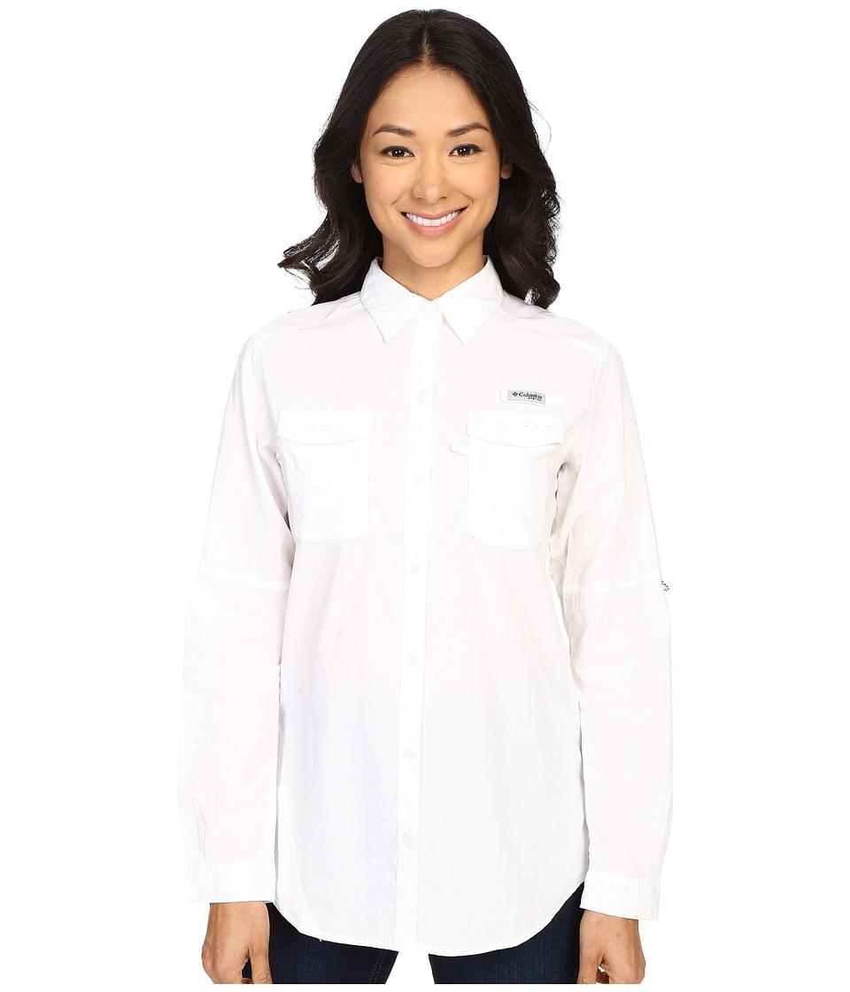 Columbia Boneheadtm II L/S Shirt (White) Women's Long Sle...