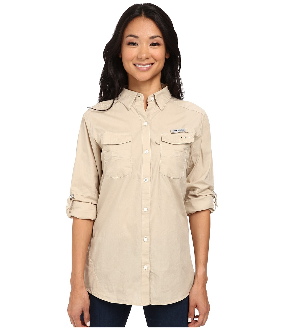 Columbia Boneheadtm II L/S Shirt (Fossil) Women's Long Sl...