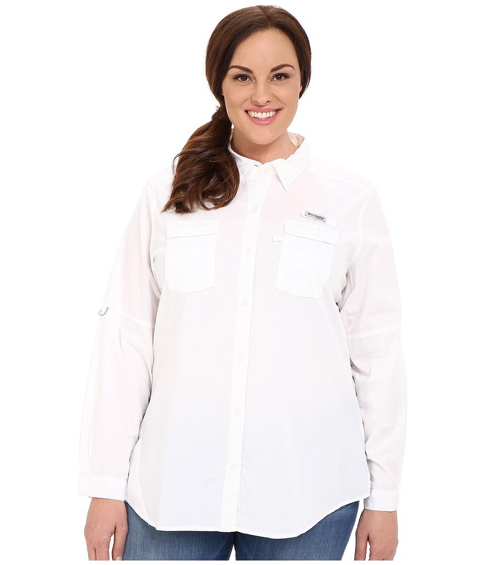 Columbia Plus Size Boneheadtm II L/S Shirt (White) Women'...