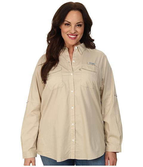 Columbia Plus Size Bonehead II L/S Shirt (Fossil) Women's Long Sleeve Button Up