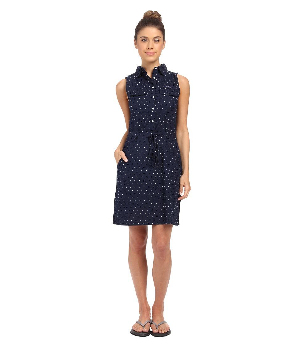 Columbia Super Boneheadtm II Sleeveless Dress (Collegiate Navy Printed Polka Dot) Women
