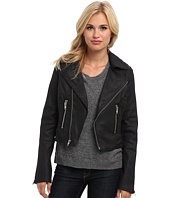 True Religion - Black Coated Moto Jacket