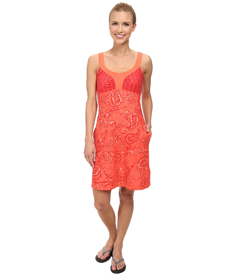 The North Face - Cadence Dress (Emberglow Orange Print (Prior Season)) Womens Dress