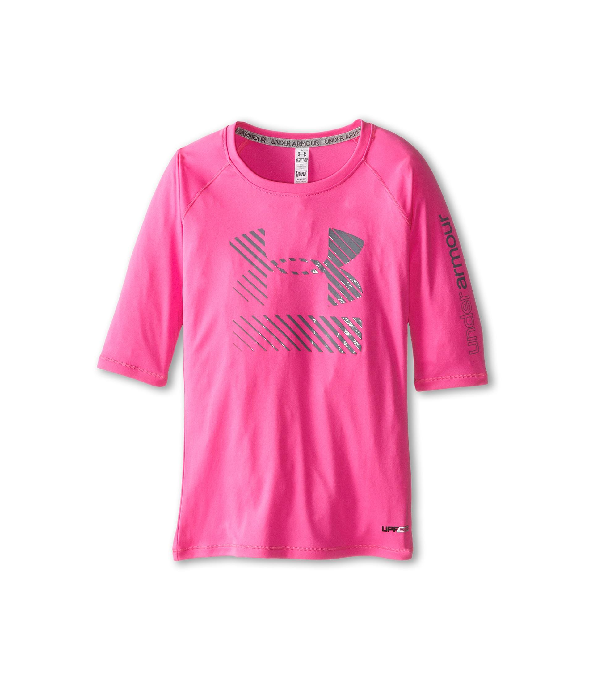 Under armour kids upf 3 4 sleeve shirt big kids for Under armour shirts for kids
