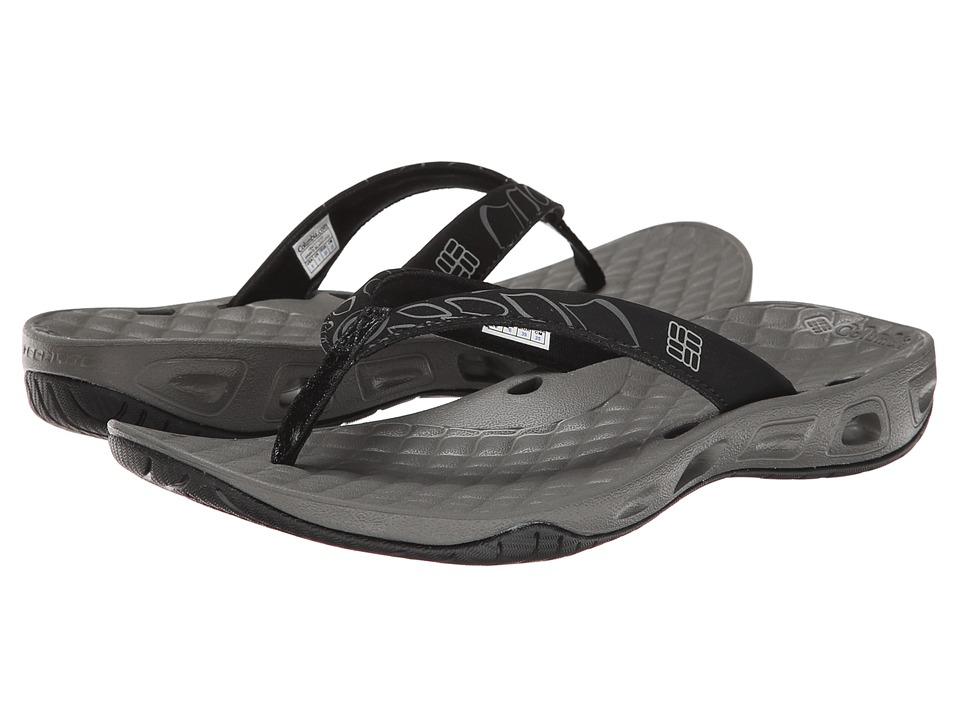 Columbia Sunbreeze Vent Flip Black/Platinum Womens Shoes