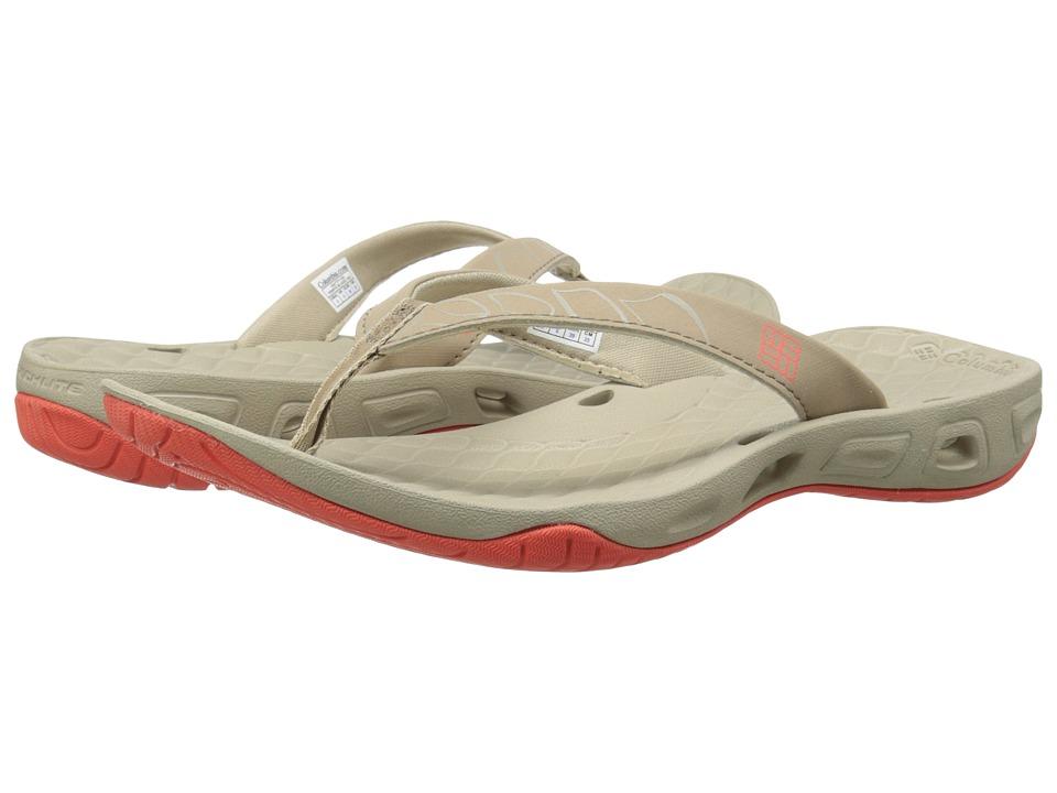 Columbia Sunbreeze Vent Flip Fossil/Corange Womens Shoes