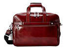 Bosca Single Gusset Stringer Bag (Dark Brown)