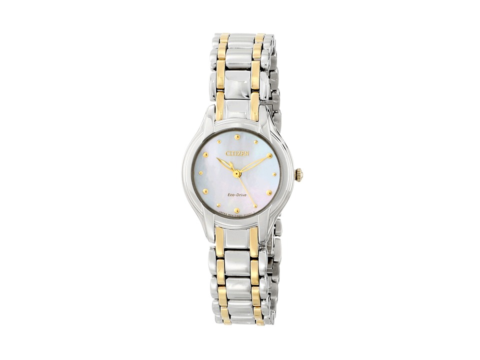 Citizen Watches - EM0284-51N Eco-Drive Silhouette (Two Tone Stainless Steel) Dress Watches