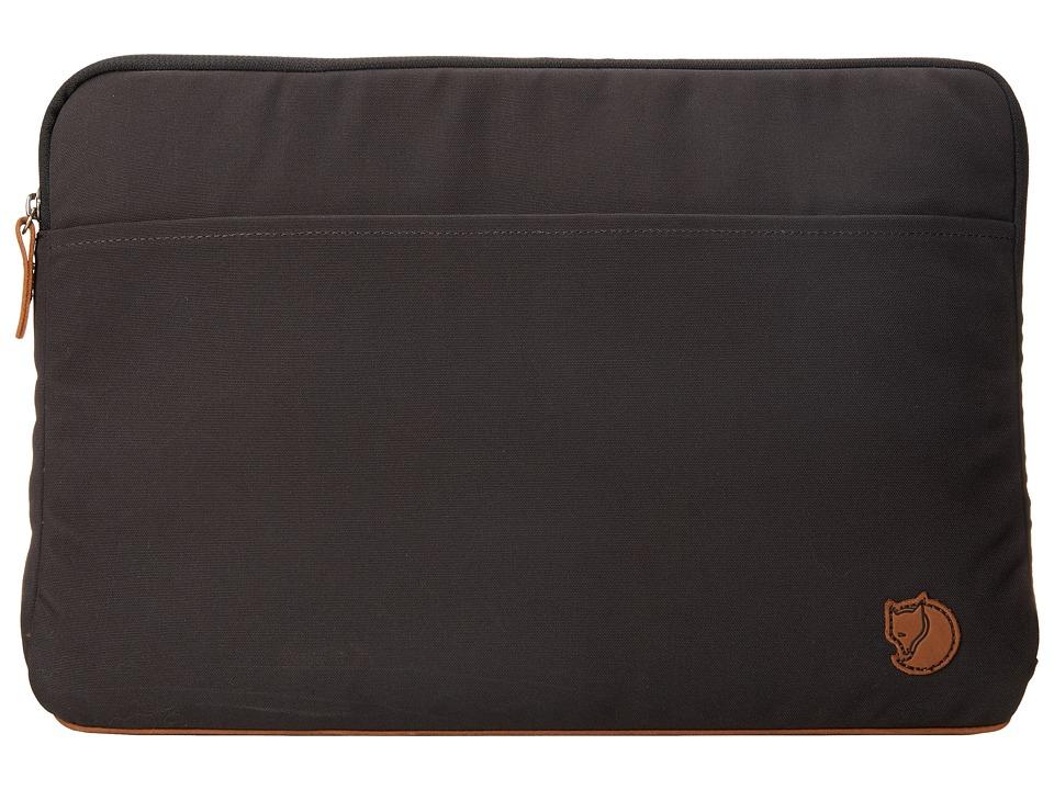 Fjallraven - Laptop Case 15 (Dark Grey) Computer Bags