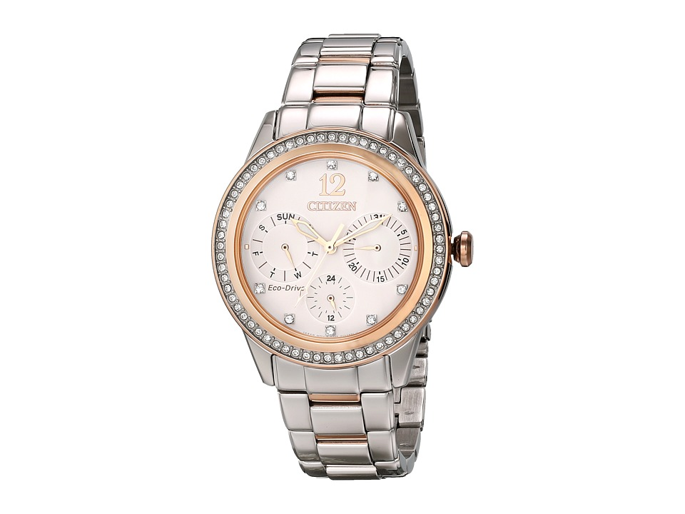 Citizen Watches FD2016 51A Eco Drive Silhouette Crystal Two Tone Stainless Steel Analog Watches