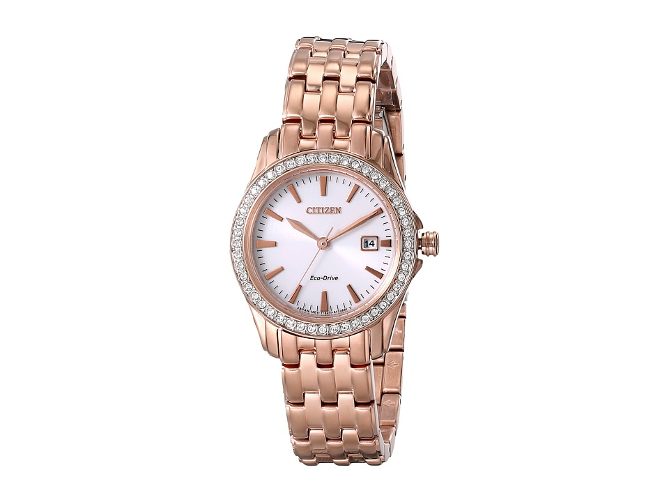 Citizen Watches EW1903 52A Eco Drive Silhouette Crystal Rose Gold Tone Stainless Steel Analog Watches