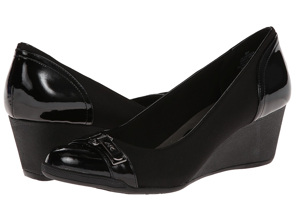 Anne Klein - Tamarow (Black Multi Fabric) Women's Wedge Shoes