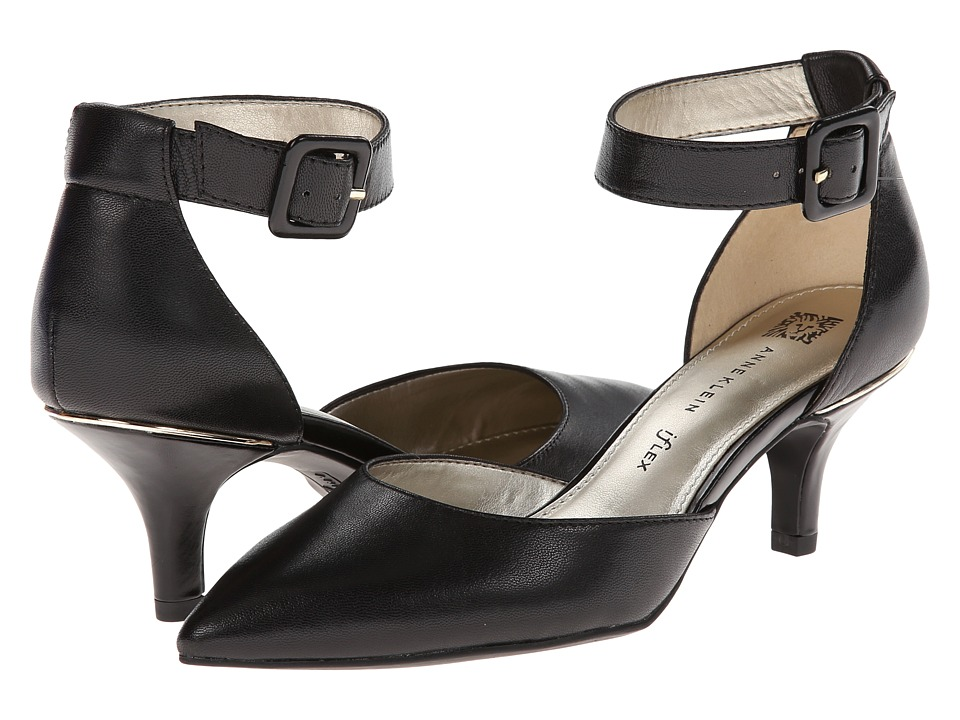 Anne Klein - Fabulist (Black Leather) High Heels