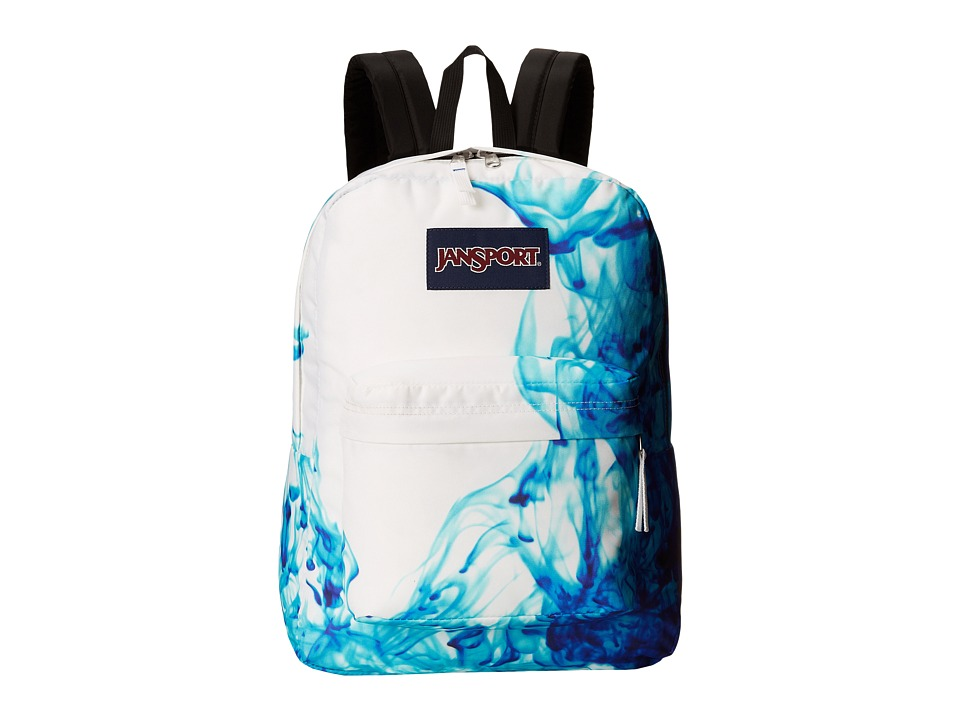 JanSport SuperBreak Multi Blue Drip Dye Backpack Bags