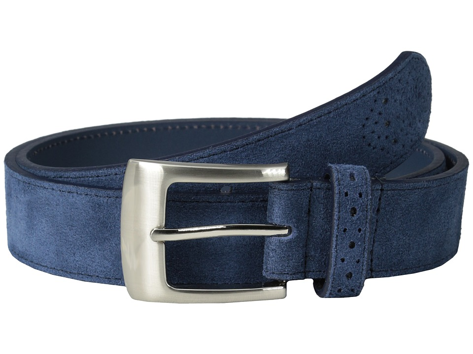 Stacy Adams 32mm Genuine Suede Leather (Blue) Men