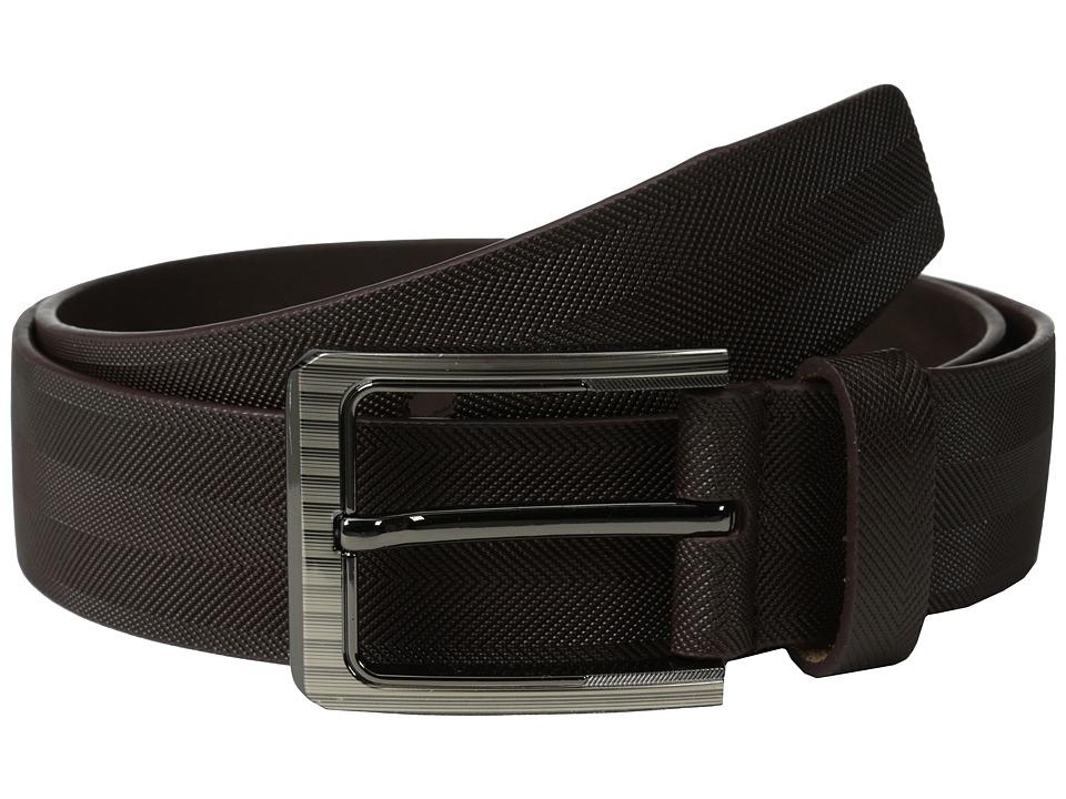 Stacy Adams 38mm Full Gain Leather with Herringbone Design (Brown) Men