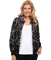 MICHAEL Michael Kors - Plus Size Long Sleeve Zip Front Jacket