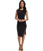 MICHAEL Michael Kors - Sleeveless Stud Uneven Hem Dress