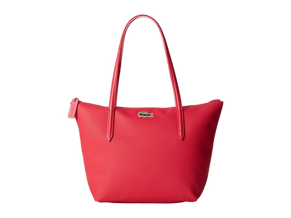 Lacoste - L.12.12 Concept Medium Small Shopping Bag (Petunia Pink) Tote Handbags