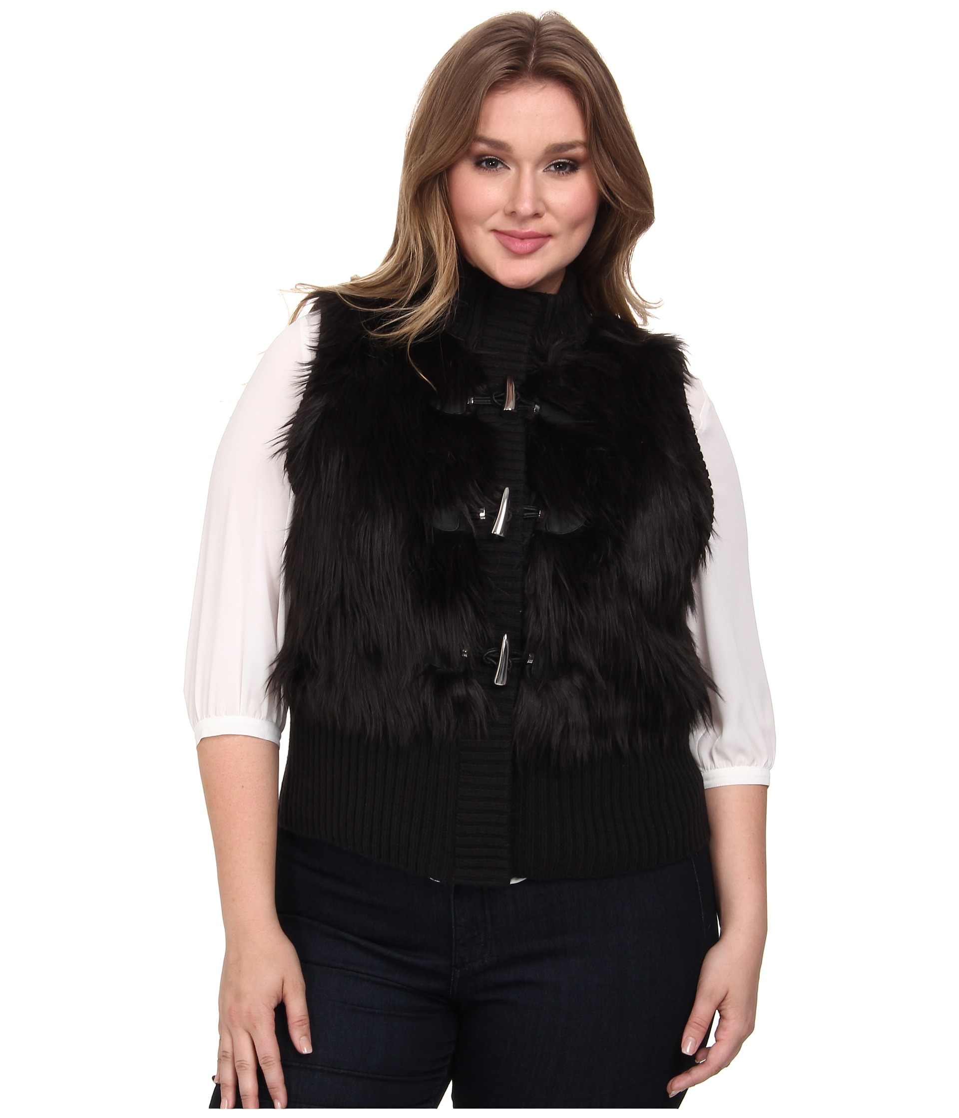 women s vests - fur vests, leather vests and denim vests Layering is a quick way to create new looks, and women's vests make it easier than ever. Throw a suede or shearling vest from Marc New York or cupcakes and cashmere over a simple T-shirt to instantly add texture and sophistication, or wear a cozy puffer vest from Canada Goose or The.