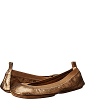 Yosi Samra - Samara Muted Metallic Leather Fold Up Flat