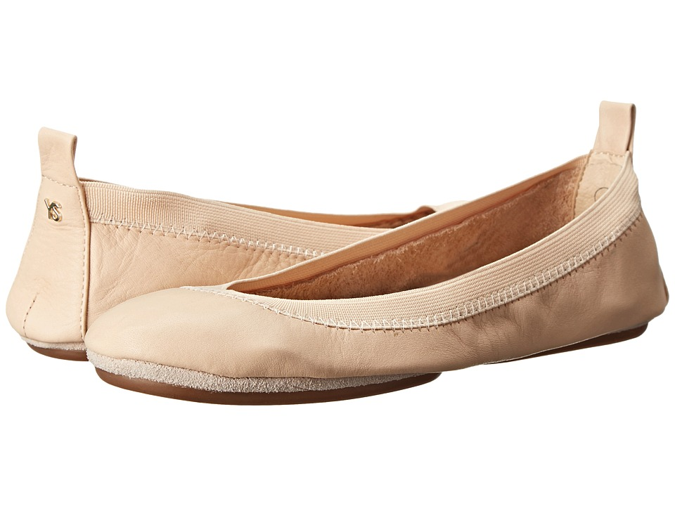 Yosi Samra Alsina Leather Ballet Flat Nude Womens Flat Shoes