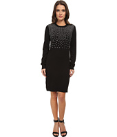 MICHAEL Michael Kors - Petite Long Sleeve Stud Sweater Dress