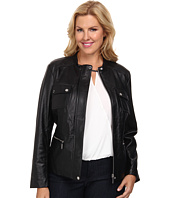 MICHAEL Michael Kors - Plus Size Structured Leather Coat
