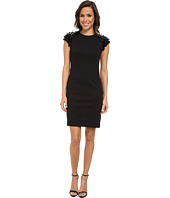 MICHAEL Michael Kors - Sequin Short Sleeve Ponte Dress
