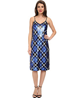 MICHAEL Michael Kors - Plaid Sequin Slip Dress