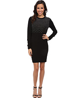 MICHAEL Michael Kors - Long Sleeve Stud Sweater Dress