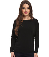 MICHAEL Michael Kors - Petite Long Sleeve Studded Raglan Top