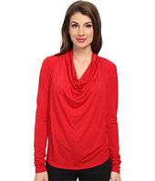 MICHAEL Michael Kors - Long Sleeve Cowl Neck Dip Hem Top
