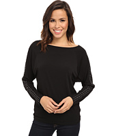 MICHAEL Michael Kors - Long Sleeve Studded Raglan Top