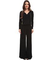 MICHAEL Michael Kors - Petite Long Sleeve Chain Neck Wide Leg Jumpsuit