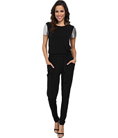 MICHAEL Michael Kors - Short Sleeve Chain Mesh Sleeve Jumpsuit