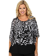 MICHAEL Michael Kors - Plus Size Water Ikat Flutter Top