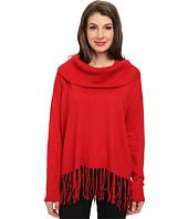 MICHAEL Michael Kors - Fringe Hem Cowl Neck Sweater