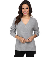 MICHAEL Michael Kors - Long Sleeve Horizontal Shaker V-Neck Sweater