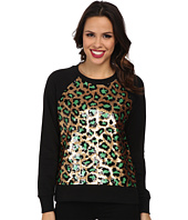 MICHAEL Michael Kors - Cheetah Sequin Long Sleeve Terry Top