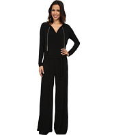MICHAEL Michael Kors - Long Sleeve Chain Neck Wide Leg Jumpsuit
