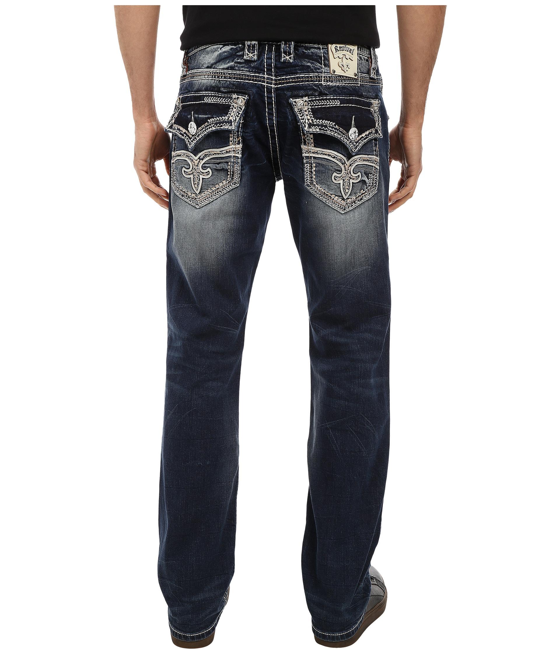 Rock Revival Ronald J3 Fleur Coin Pocket Straight Jean
