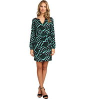Hale Bob - Abstract Messages Faux Wrap Dress