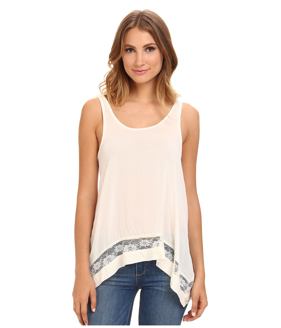Free People Hi Low Outlined Cami Snow Womens Sleeveless