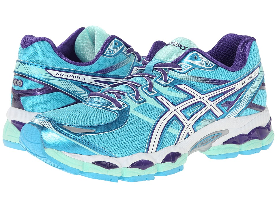 ASICS - Gel-Evate 3 (Turquoise/White/Purple) Women